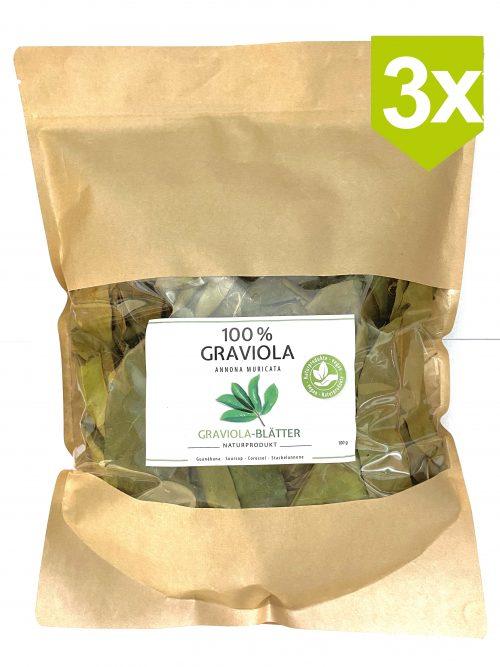 3x100g Graviola-Blaetter
